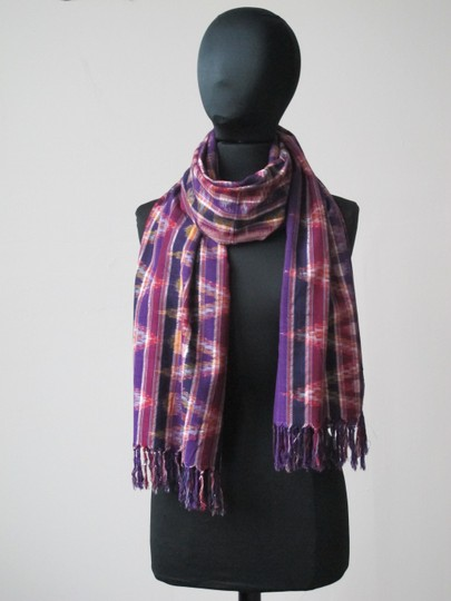 Handmade Colorful Modern Ikat Patterned Shawl/Wrap Image 3