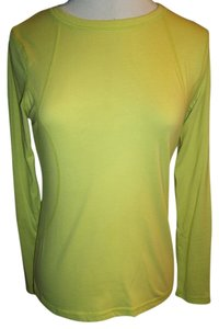 Tek Gear Sports Woman's Crew Neck Cotton Blend T Shirt Neon Green