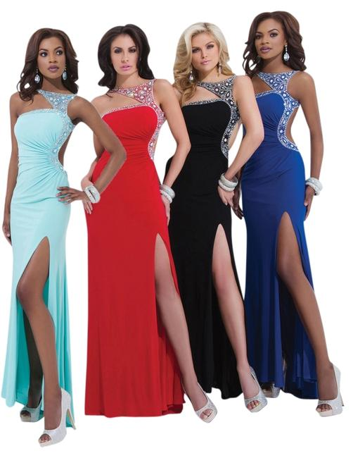Tony Bowls New Prom 114707 Size 8 Strappy Slit Dress