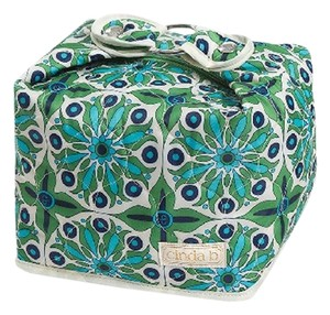 Cinda B Cosmetic Large Classy Sophisticated Chic Green Travel Bag