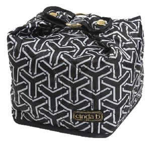 Cinda B Classy Sophisticated Chic Cosmetic Black - White Travel Bag