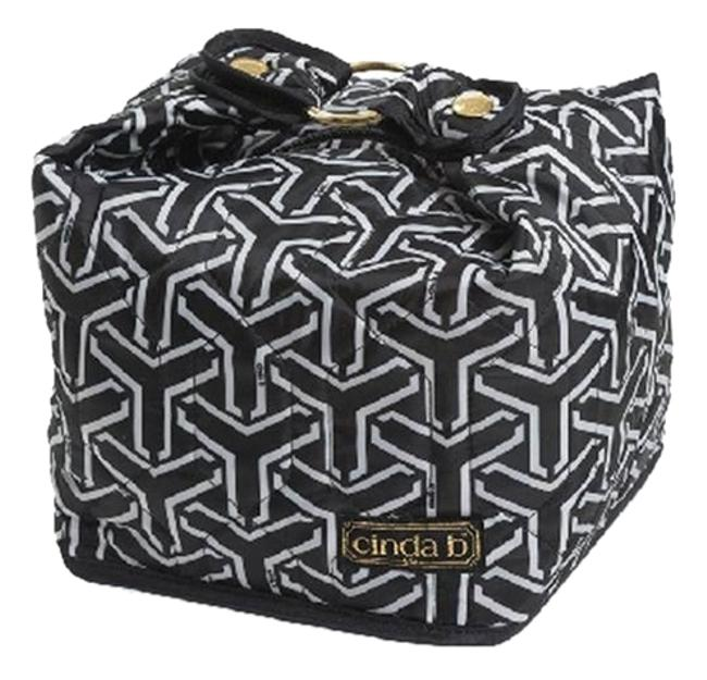 Item - Classy Sophisticated Chic Cosmetic Black - White Nylon Weekend/Travel Bag