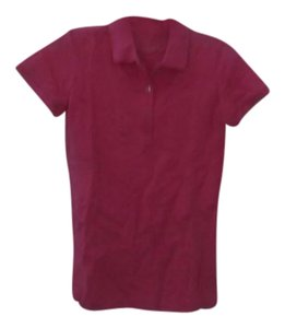 Lilly Pulitzer Polo T Shirt dark pink