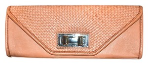 Rebecca Minkoff Endless Love Woven Leather Handbag Coral Clutch