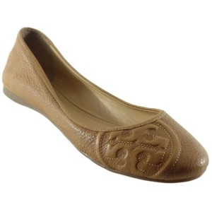 Tory Burch Ruby Metallic Brown Flats