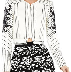 BCBGMAXAZRIA White ans Black Jacket
