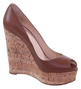 Christian Louboutin Brown Wedges