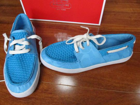 Coach Turquoise Flats