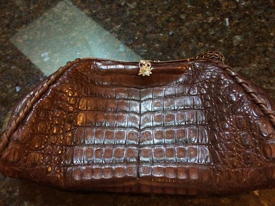 Anthony Luciano Jewels Animial Skin Vintage Satchel in dark brown