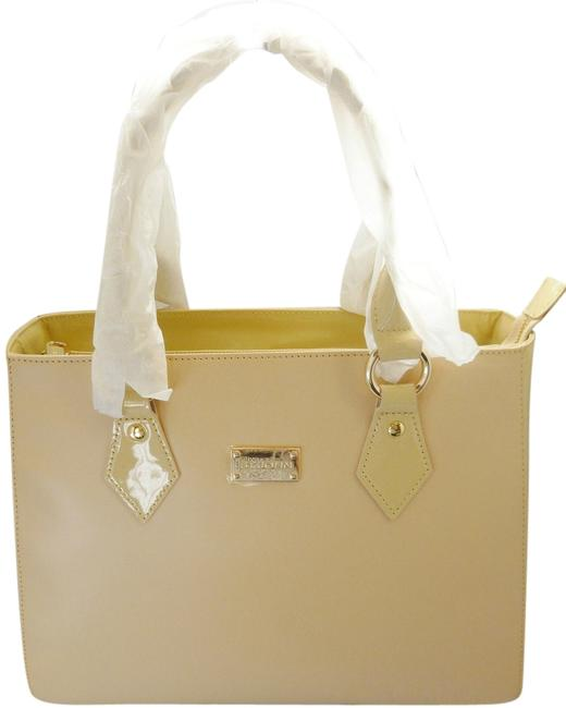 Item - Knits Leather/Patent Tan Leather / Patent Leather Satchel