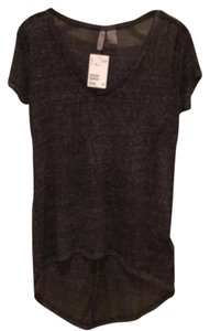 H&M T Shirt Black/Dark Charcoal