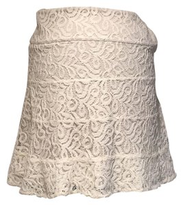 Express Mini Skirt Nude and ivory