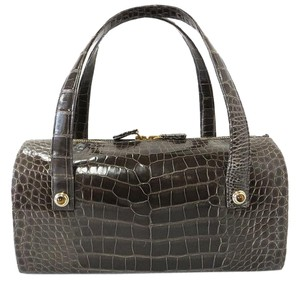 Judith Leiber Alligator Satchel in Brown