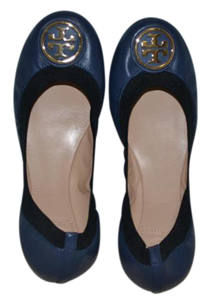 d29d47e77b04 Tory Burch Clare Blue Flats Size US 9 Regular (M