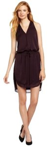 Rebecca Taylor short dress Pinot Satin Purple on Tradesy
