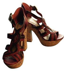BCBGeneration Red & Tan Sandals