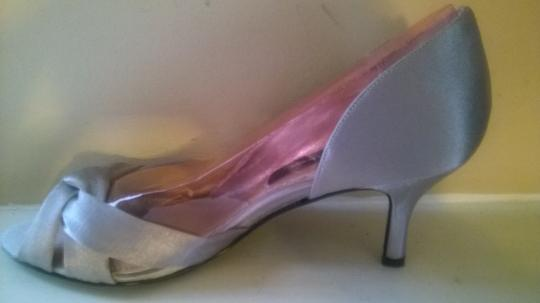 Nina Shoes Silver Crista D'orsay Evening Satin Bridal. Formal Size US 6.5 Regular (M, B) Image 3
