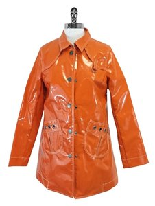 Marc Jacobs Oragne Vinyl Rain Raincoat