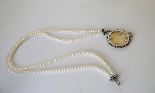 """Honora Honora Mother of Pearl Disc Necklace 18"""""""