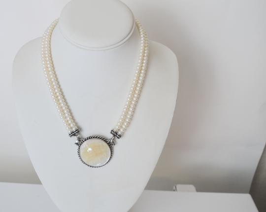 Honora Honora Mother of Pearl Disc Necklace 18""