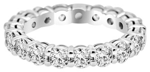 Avi and Co 2.85 cttw Round Brilliant Cut Diamond Eternity Wedding Band 14K White Gold