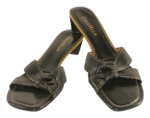 Cole Haan Bow Leather Beach Knot Black Sandals