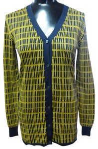 Prada V-neck Striped Cardigan