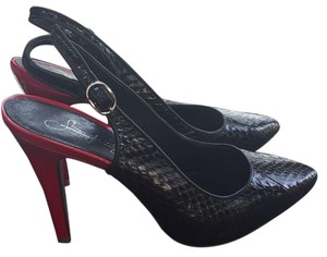 Shoes of Prey Black and Red Pumps