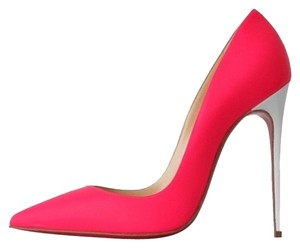 Christian Louboutin So Kate 120 Fluorescent Pink Neon & White Pumps