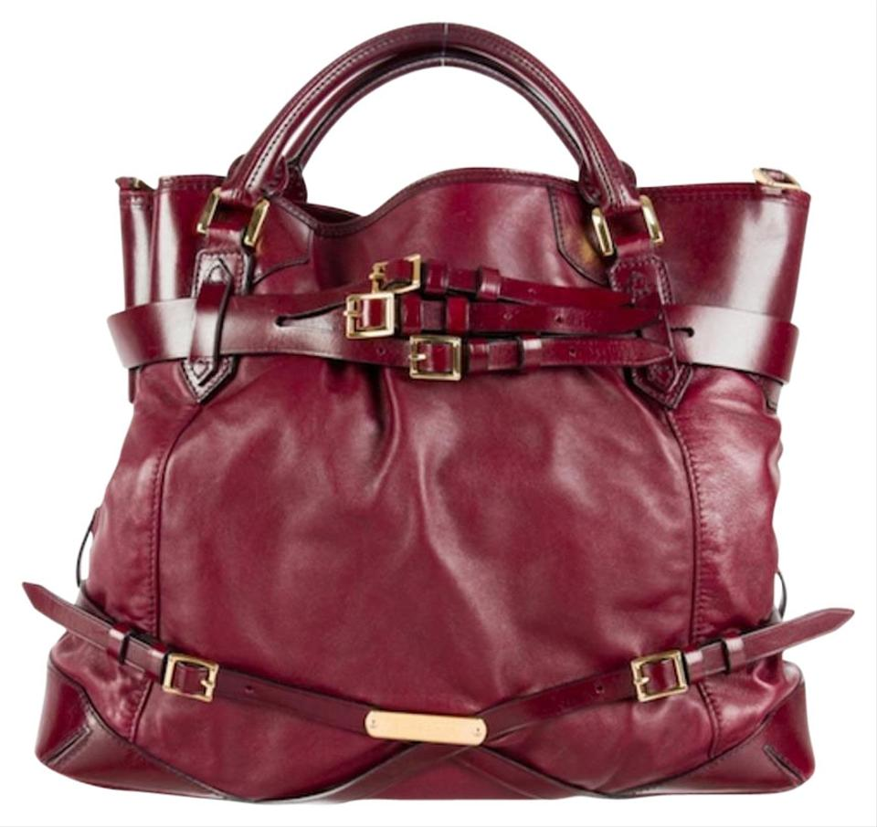 d0b34b57c Burberry Belted Bridle Large Big Lynher Purse Burgundy Wine Leather ...