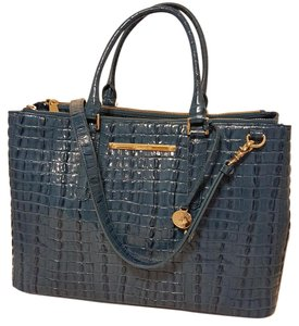 Brahmin Satchel in Surf Blue