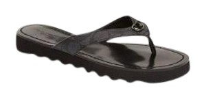 Coach Flip Flops New Signature Black Sandals