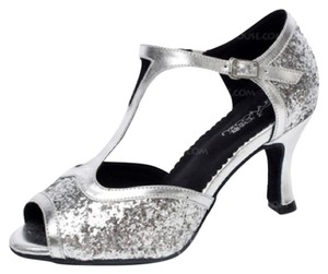 Latin Dance Shoes Silver Formal