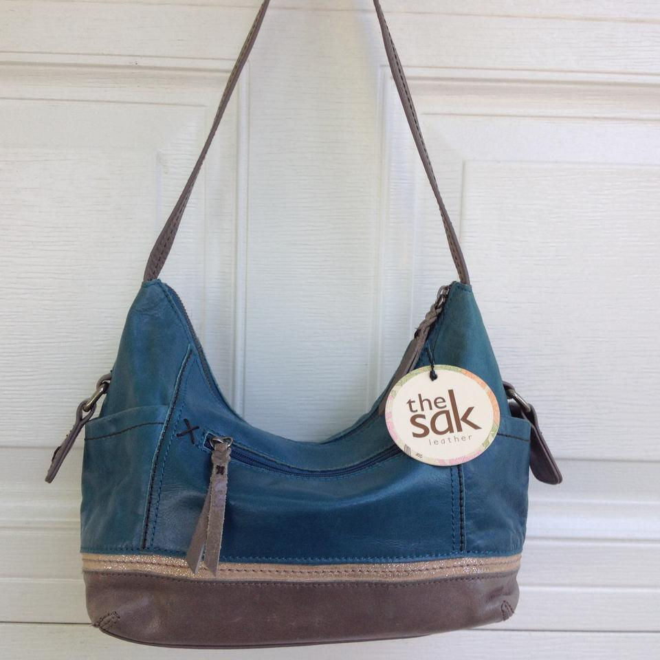 6f6c11ab655b The Sak Kendra Blue Leather Shoulder Bag - Tradesy