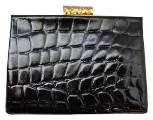 Alexander McQueen Rare Crocodile Handbag Black, Gold Clutch