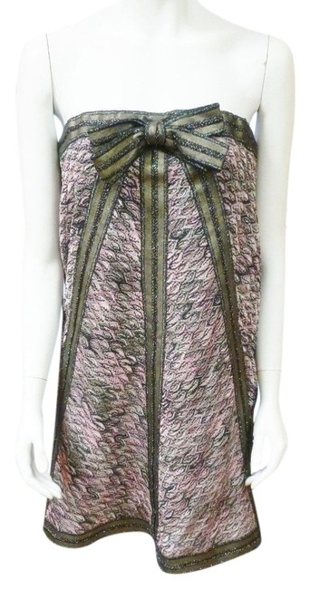 Missoni short dress Multi-Color Rugiada Strapless Knitted Mini Detachable Bow New Designer on Tradesy