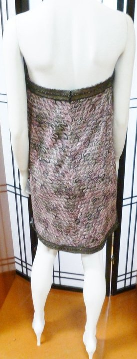 Missoni Multi-Color New Rugiada Strapless Knitted Mini With Detachable Bow Size 10 Dress - 77% ...