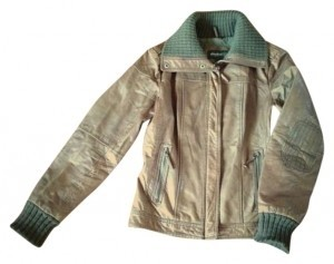 Eddie Bauer Olive Leather Jacket