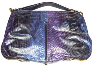 Jimmy Choo Python Shaded Large Tote in Blue/Purple Metallic