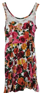 Kirra short dress Pink, white, yellow and green floral on Tradesy