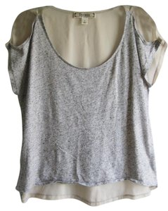 Decree Women's Short Sleeve Top Gray & Tan