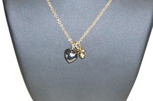 Coach Coach Gold / Black Heart Necklace