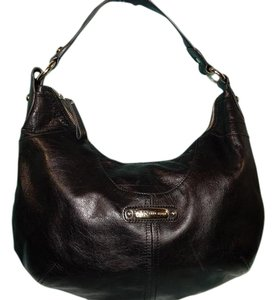 AK Anne Klein One Shoulder Leather Hobo Bag