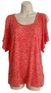 Michael Kors Scoop Neck Dolman Printed Top