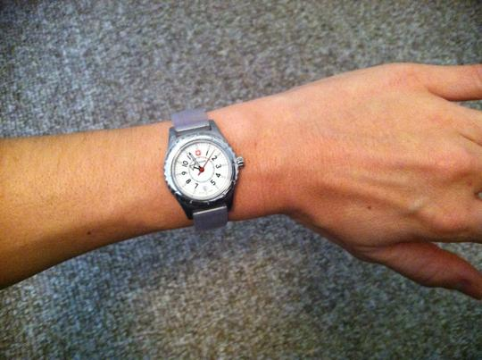 Wenger Wenger Stainless Steal Watch with soft blue band