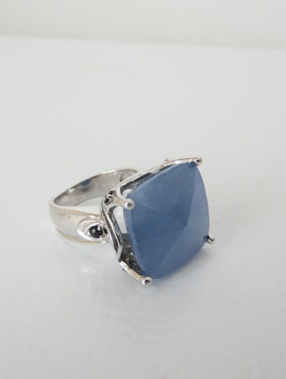 Colleen Lopez Sterling Silver Blue Chalcedony Ring Size 7