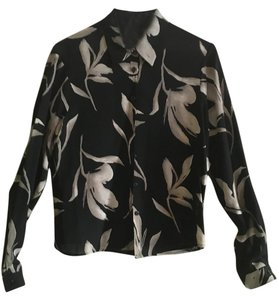 Jones New York Button Down Shirt Black floral