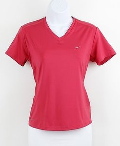 Nike Nike Fit Dry Raspberry Ss V-neck Top B91
