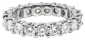 Avi and Co 3.40 cttw Round Brilliant Cut Diamond U-Shape Prong Eternity Band 14K White Gold