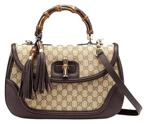 Gucci Satchel in Brown/Beige